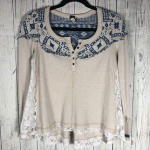 Free People Long Sleeve Thermal Shirt